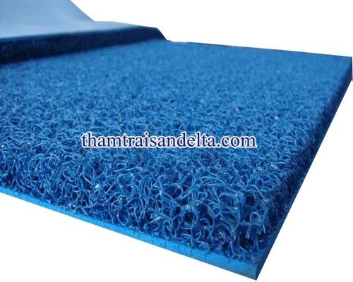 thảm nhựa rối màu xanh