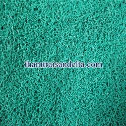 thảm nhựa rối màu xanh lá