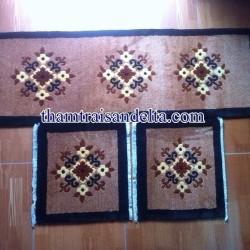 thảm trải ghế gỗ len dệt tay