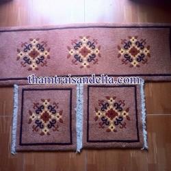 thảm trải ghế len dệt tay