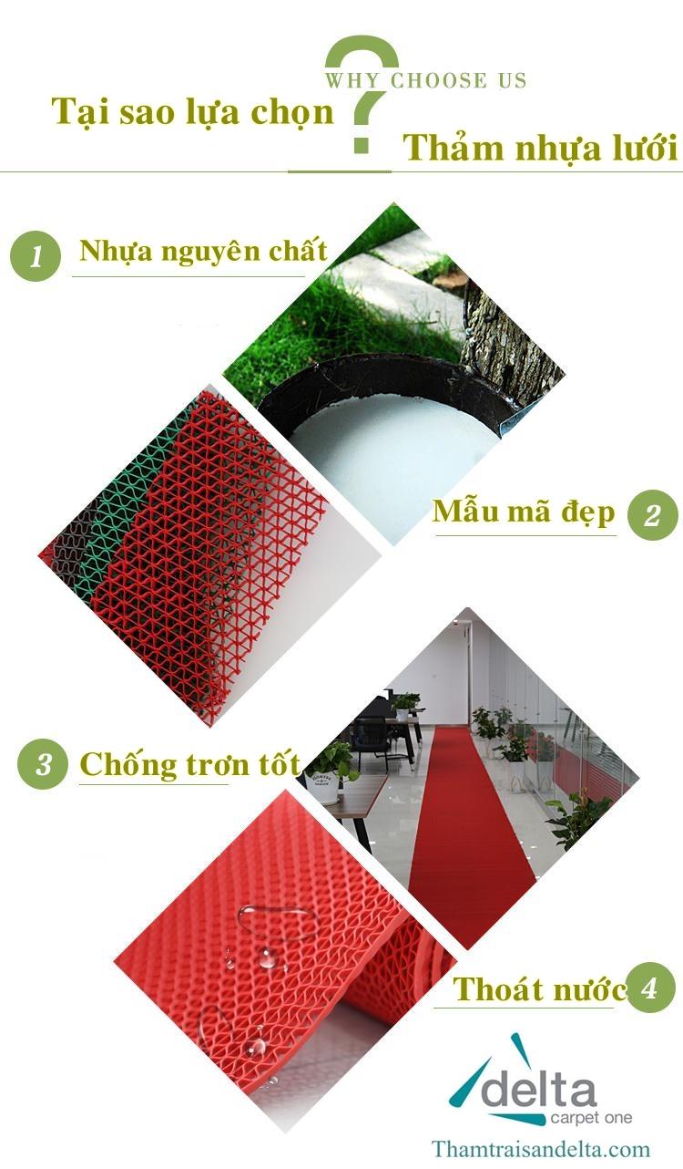 Vì sao lựa chọn thảm nhựa lưới