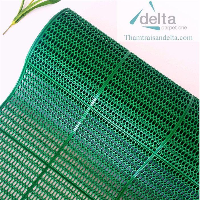 Thảm nhựa lưới tổ ong màu xanh lá