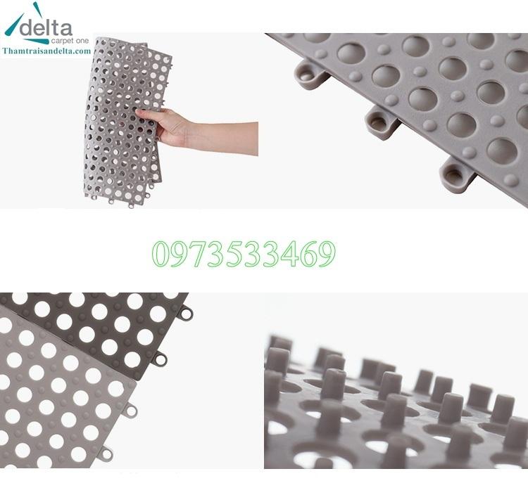 cấu tạo thảm nhựa ghép lỗ tròn
