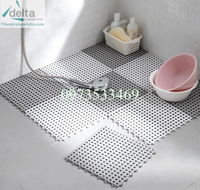 Thảm nhựa chống trơn nhà tắm dạng ghépThảm nhựa chống trơn nhà tắm dạng ghép